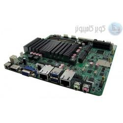 ماردبرد 4 هسته ای j1900 با 2 پورت lan ساپورت هارد HDDو SSD