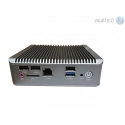 مینی باکس J1900 با دو پورت لن و پورت سریال و جای سیم کارت مدل kc5210