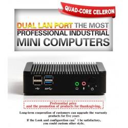 مینی باکس چهار هسته ای Quad-core J1900/با دو پورت لن /یک پورت سریال/بدون فن/صنعتی