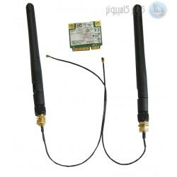کارت وای فای دوال باند 2.4/5.0GHZ وآنتن  وکابل رابط   wifi  card dual band
