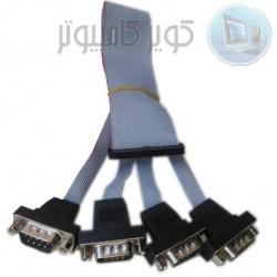 کابل 4 تایی سریال مخصوص مادربرد ها Com port cable مدل kc5215
