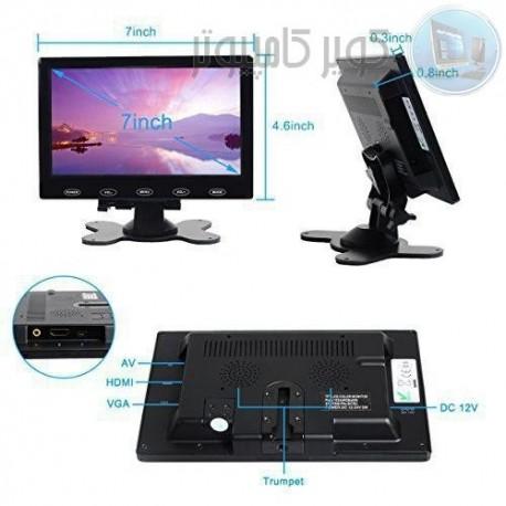 مانیتور این7.0 اینچ با ورودی VAGA ,HDMI ,AV رزولوشن 480 *800کیفیت بالا- کویرکامپیوتر