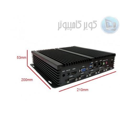 مینی کامپیوتر صنعتی دو هسته ای 1037u- دو پورت لن و شش پورت سریال مدل -kc5004کویرکامپیوتر