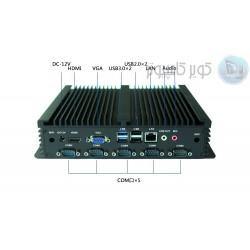 مینی باکس 4هسته ای j1900 - یک پورت lpt و 6پورت سریال- kc5501- کویر کامپیوتر
