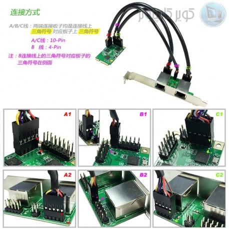 MINI PCI-E to Ethernet 2port board