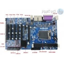 مادر برد با 5 پورت PCIبه همراه CPU - مدلkc5519 کویرکامپیوتر