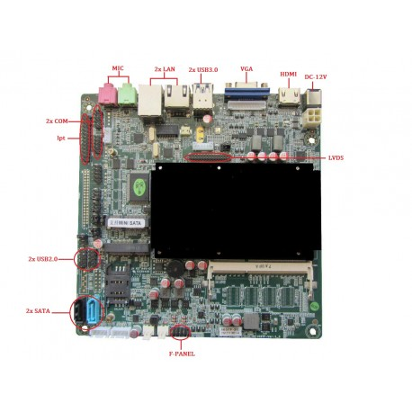 مادربردصنعتی  بدون فنELSKY 1037FL  محصولی از کویر کامپیوتر