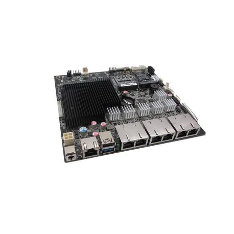 مادربرد صنعتی بدون فن /6 پورت لن 1گیگ/multi lan 6 port مولتی لن  محصول کویر کامپیوتر مدل kc5523